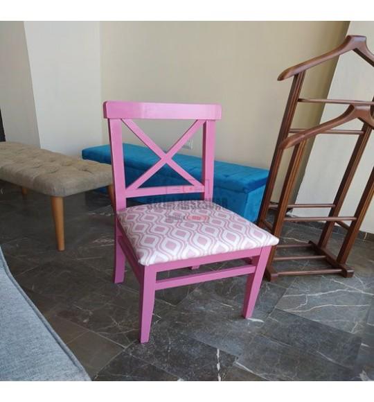 Çapraz Sandalye Pembe