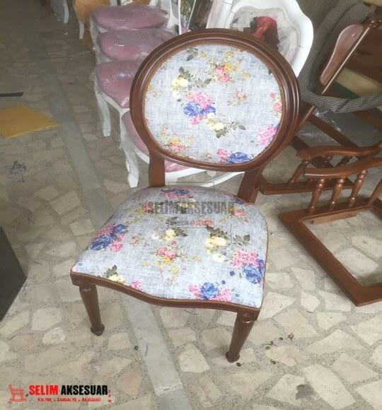 Madalyon Sandalye Füme Çiçekli